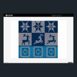 "Knitted Decorative Background Laptop Decals<br><div class=""desc"">https://www.behance.net/SNchameleo3033 Decorative colorful knitted background,  simple sweater pattern.</div>"