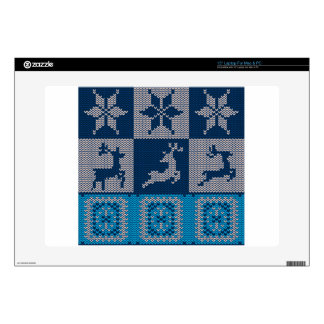 Knitted Decorative Background Laptop Decals