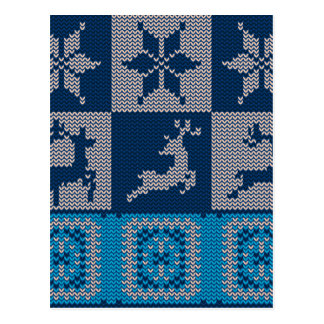 Knitted Decorative Background Postcard