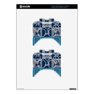 Knitted Decorative Background Xbox 360 Controller Decal