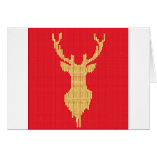 Knitted Deer Card