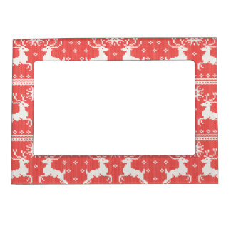 Knitted Deer Pattern Magnetic Photo Frame