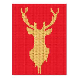 Knitted Deer Postcard