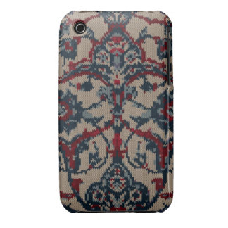 Knitted Floral Print iPhone 3 Case-Mate Case