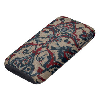 Knitted Floral Print iPhone 3 Tough Cover