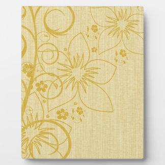 Knitted Flower Design Plaque