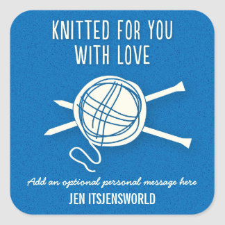 Knitted For You Sticker in Blue