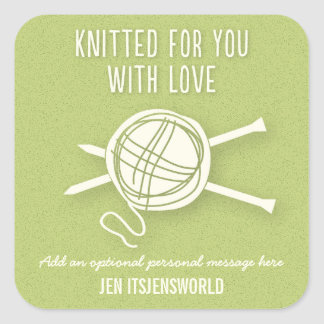 Knitted For You Sticker in Bright Green