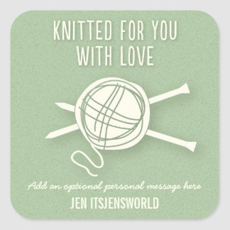 Knitted For You Sticker in Green