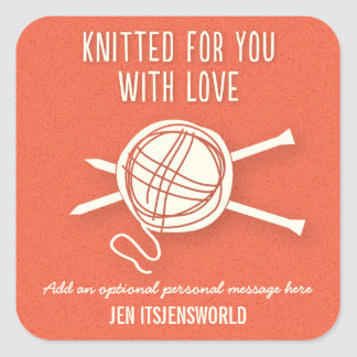 Knitted For You Sticker in Orange