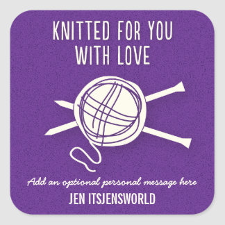 Knitted For You Sticker in Purple