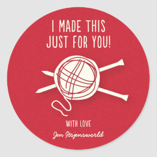 Knitted For You Sticker in Red