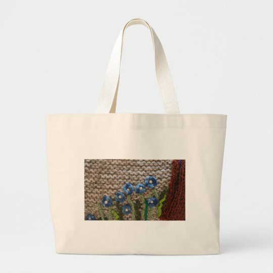 knitted garden large tote bag