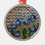 knitted garden ornament