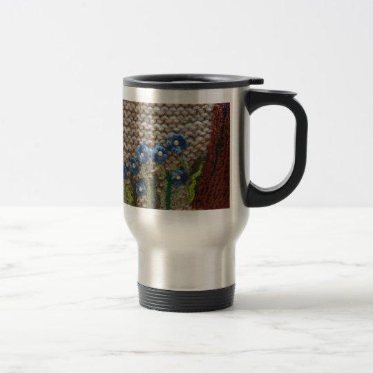 knitted garden travel mug