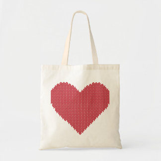 Knitted Heart Tote Bag