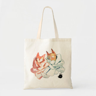 Knitted Kitties Tote Canvas Bag