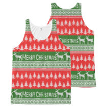 "Knitted ""Merry Christmas"" pattern All-Over-Print Tank Top"