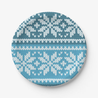 Knitted Pattern Plates Zazzle