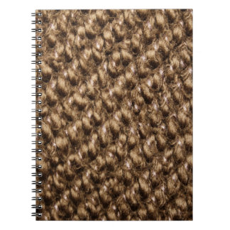 Knitted pattern spiral notebook
