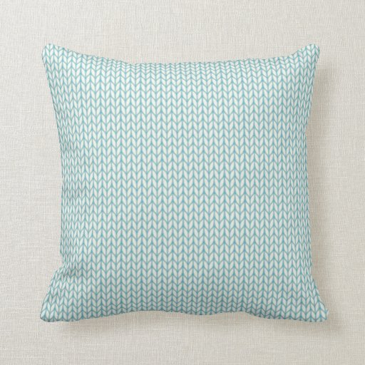 Knitting Patterns For Throw Pillows : Knitted pattern throw pillow Zazzle