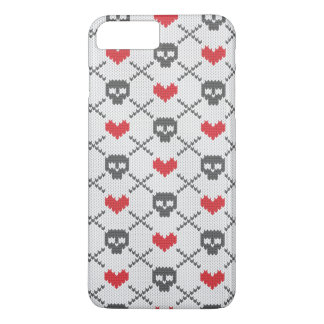 Knitted pattern with skulls iPhone 7 plus case