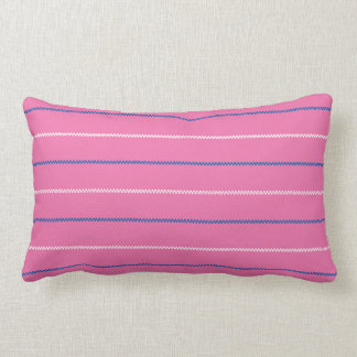 Knitted | Pink Blue White Pattern Design Pillow
