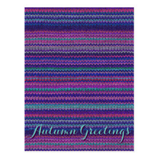 Knitted Print Postcard