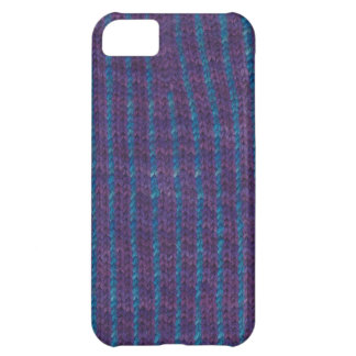 Knitted purple & blue striped cover for iPhone Case For iPhone 5C