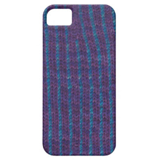 Knitted purple & blue striped cover for iPhone iPhone 5 Case