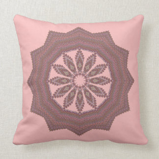 Knitted rosewood star throw pillow