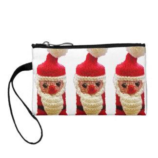 Knitted santa claus coin purse