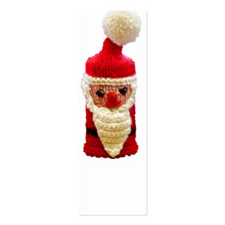 Knitted santa claus Double-Sided mini business cards (Pack of 20)