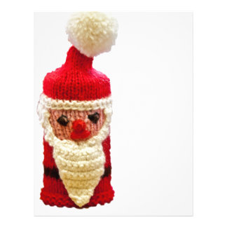 Knitted santa claus flyer