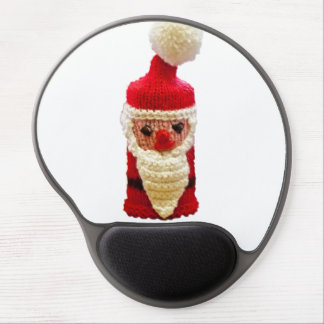 Knitted santa claus gel mouse mats