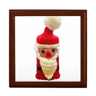 Knitted santa claus keepsake box