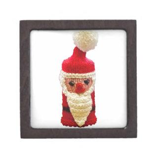 Knitted santa claus premium gift box