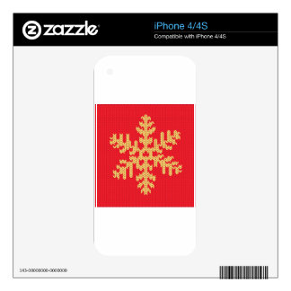 Knitted Snowflake Pattern iPhone 4S Decal