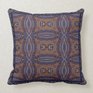 Knitted Striped Blues Throw Pillow