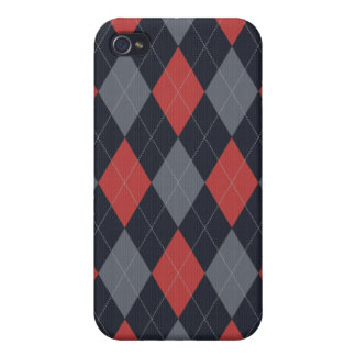 Knitted Style Argyle Iphone Case iPhone 4 Cover