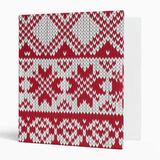 Knitted Xmas Vinyl Binder