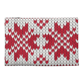 Knitted Xmas Monogram Travel Accessories Bag