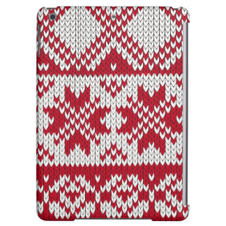 Knitted Xmas pattern in red and white iPad Air Cover