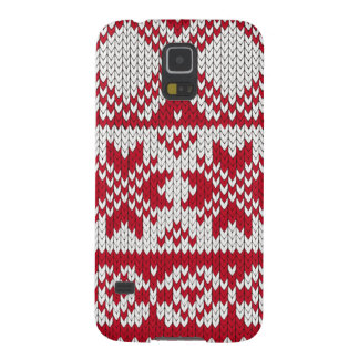 Knitted Xmas Pattern in Red & White Galaxy S5 Case