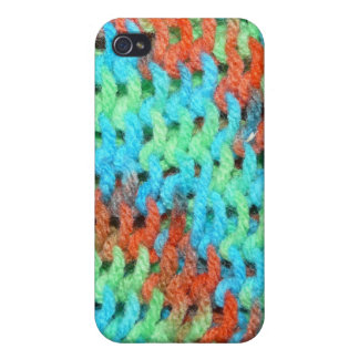 Knitted Yarn in Bright Colors iPhone 4 Cases
