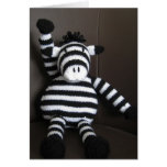 Knitted zebra cards