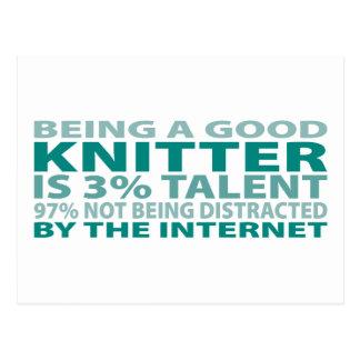 Knitter 3% Talent Postcard