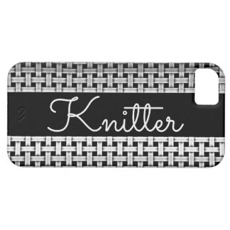 Knitter Chrome Pattern iPhone SE/5/5s Case