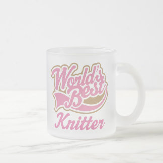 Knitter Gift 10 Oz Frosted Glass Coffee Mug