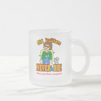 Knitter 10 Oz Frosted Glass Coffee Mug
